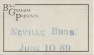 The Neville Brothers Backstage Pass