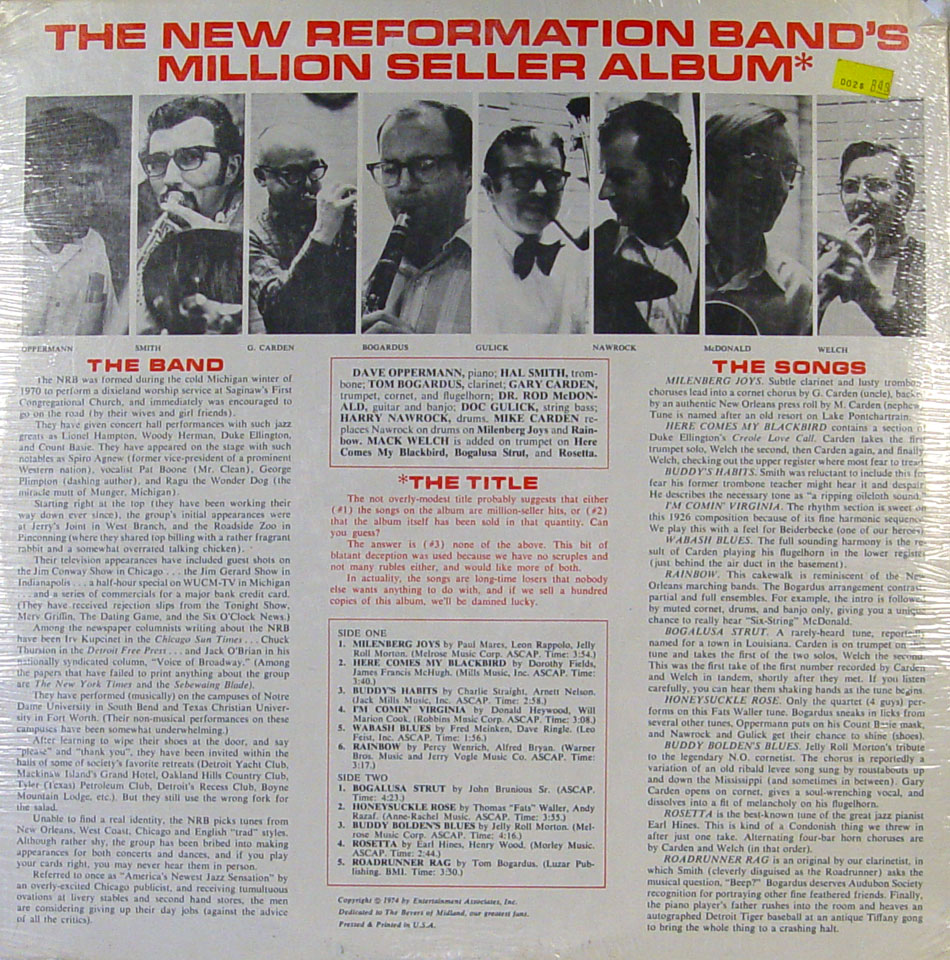 """The New Reformation Band Vinyl 12"""" (New)"""