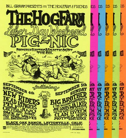 The New Riders of the Purple Sage Handbill reverse side