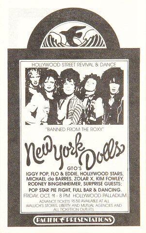 The New York Dolls Handbill
