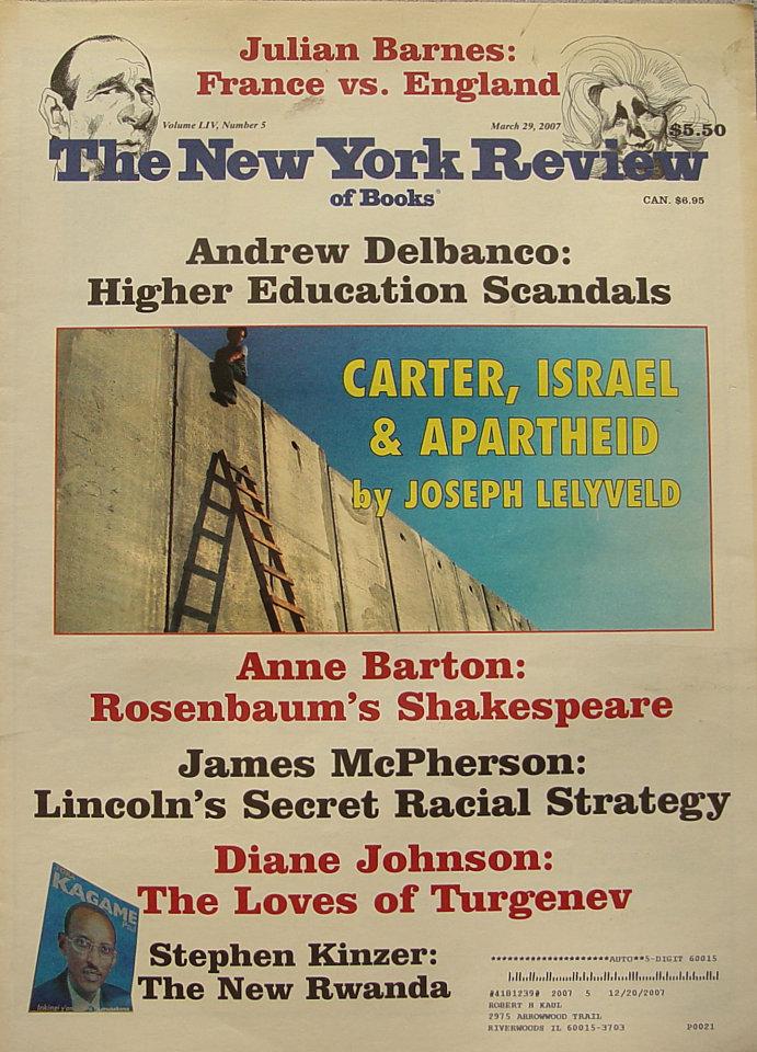 The New York Review of Books Vol. LIV No. 5