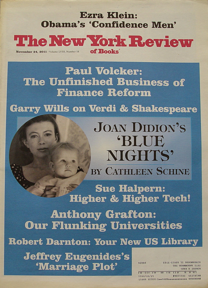 The New York Review of Books Vol. LVIII No. 18