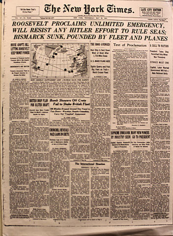 The New York Times May 28, 1941 Poster