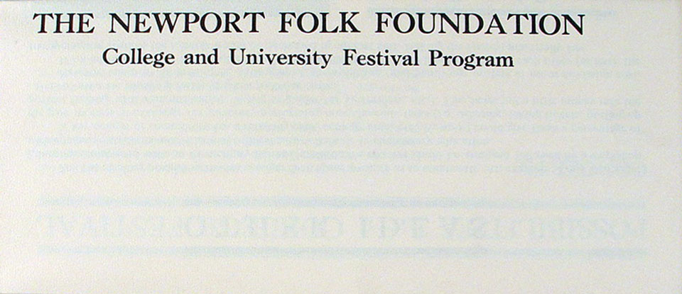 The Newport Folk Foundation Program