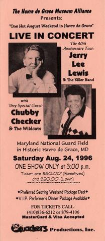 The Oak Ridge Boys Handbill reverse side