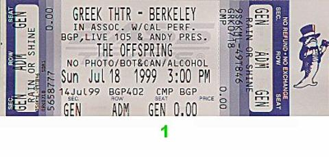 The Offspring Vintage Ticket