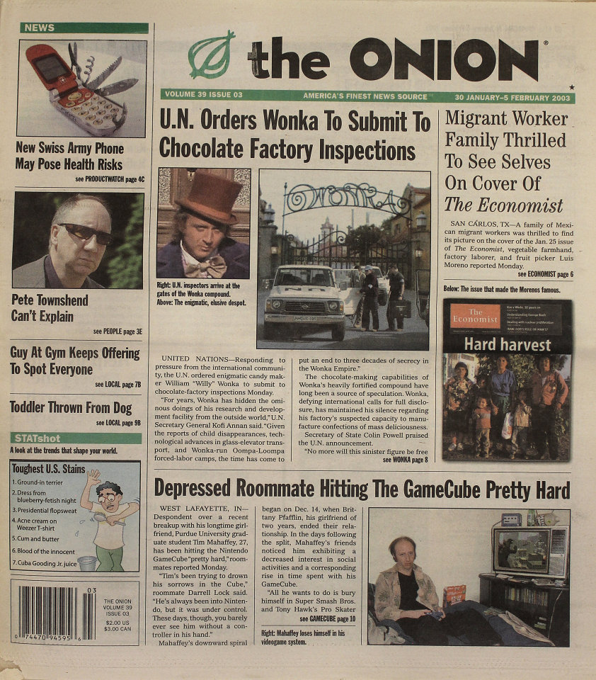 The Onion Vol. 39 Iss. 03