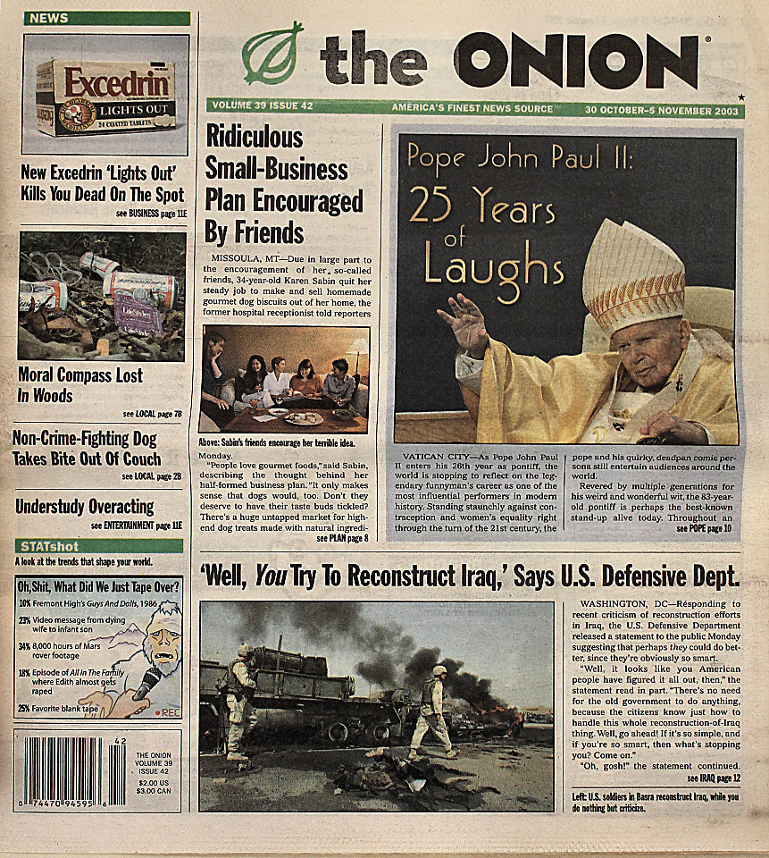The Onion Vol. 39 Iss. 42