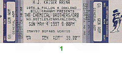 The Orb Vintage Ticket
