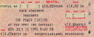 The Power Station Vintage Ticket
