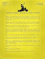 The Pretenders Handbill