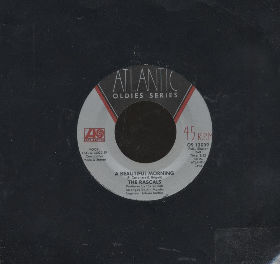 """The Rascals Vinyl 7"""" (Used)"""