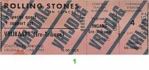 The Rolling Stones Vintage Ticket