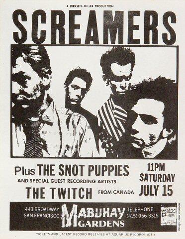 The Screamers Handbill