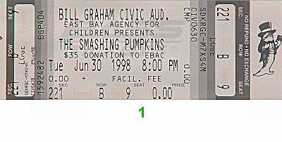 The Smashing Pumpkins Vintage Ticket