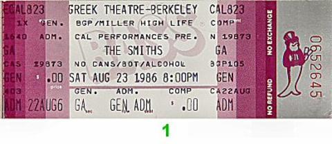The Smiths Vintage Ticket