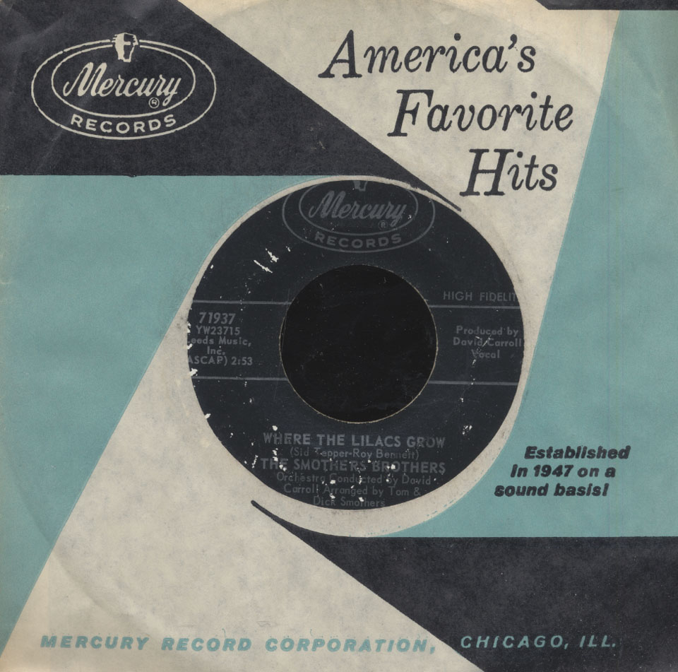 """The Smothers Brothers Vinyl 7"""" (Used)"""