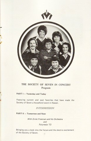 The Society of Seven Program reverse side