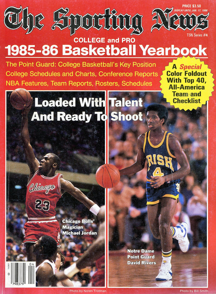 The Sporting News 1985 86 Basketball Yearbook Magazine 1985 At