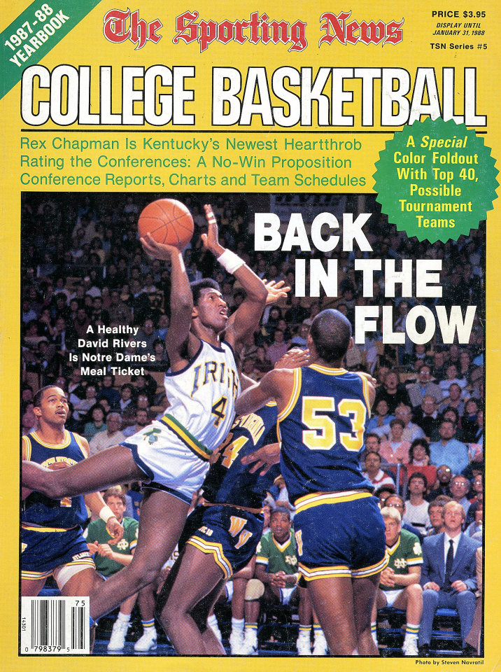 The Sporting News 1987 88 College Basketball Yearbook Magazine