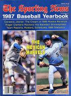 The Sporting News 1987 Baseball Yearbook Magazine