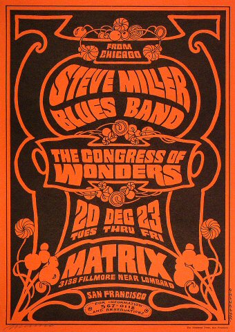 The Steve Miller Blues Band Poster
