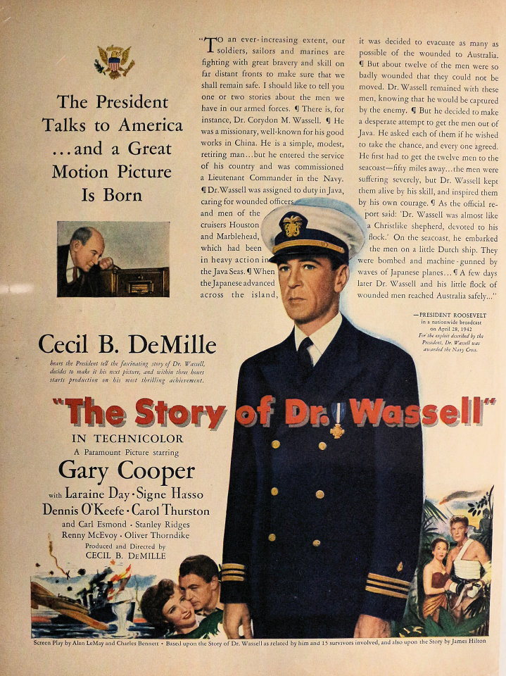 The Story Of Dr. Wassell Vintage Ad