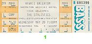 The Stylistics Vintage Ticket