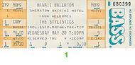 The Stylistics Vintage Ticket