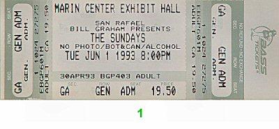 The Sundays Vintage Ticket