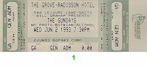The Sundays Vintage Ticket