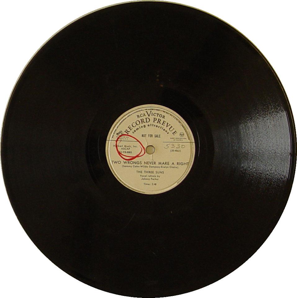 """The Three Suns Vinyl 10"""" (Used)"""