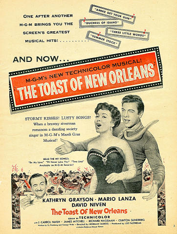The Toast Of New Orleans Vintage Ad