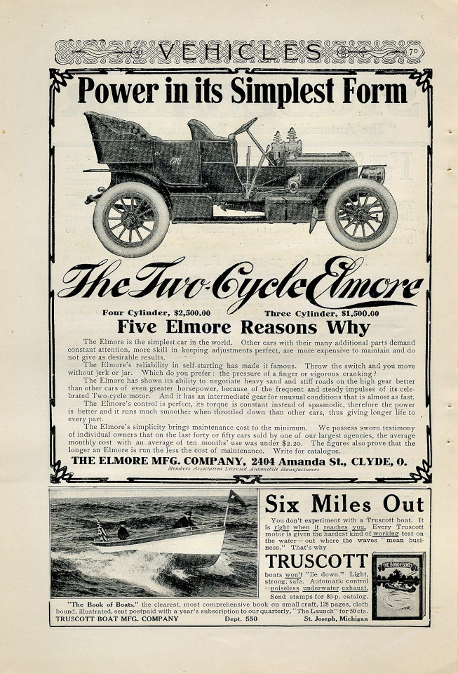 The Two-Cycle Elmore Vintage Ad