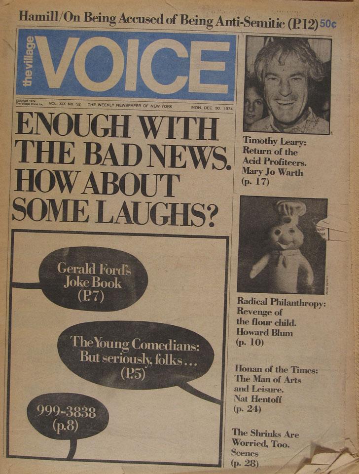 The Village Voice Vol. 19 No. 52