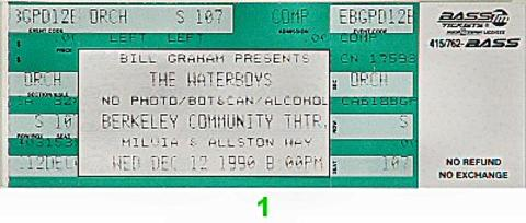The Waterboys Vintage Ticket