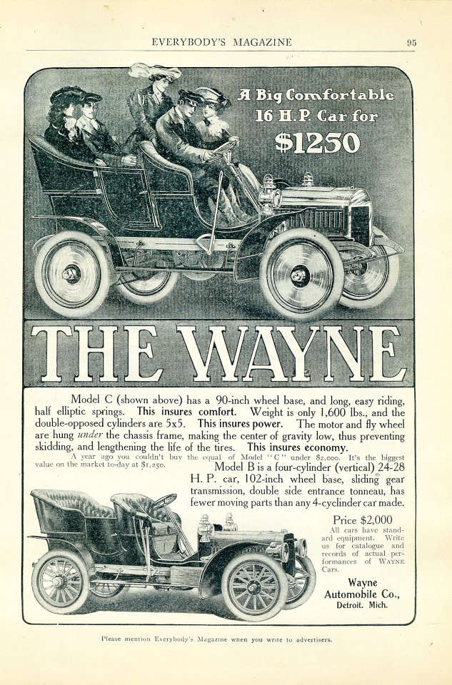 The Wayne Vintage Ad