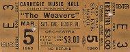 The Weavers Vintage Ticket