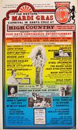 The Western Mardi Gras Carnival In Santa Cruz Poster
