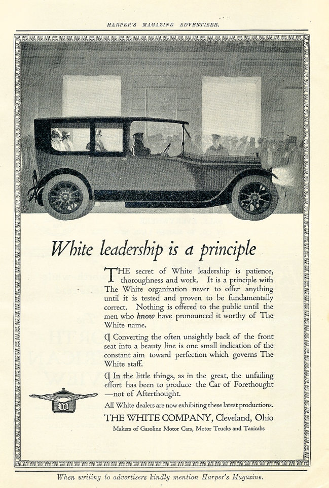 The White Vintage Ad, 1915 at Wolfgang\'s