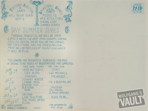 The Who Postcard reverse side