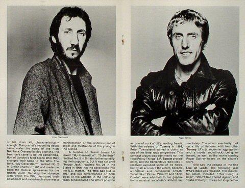 The Who Program reverse side