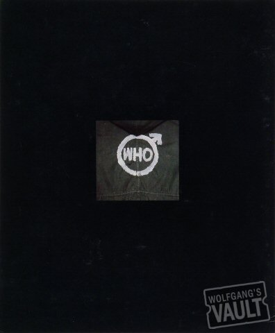 The Who Program reverse side