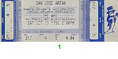 The Who Vintage Ticket