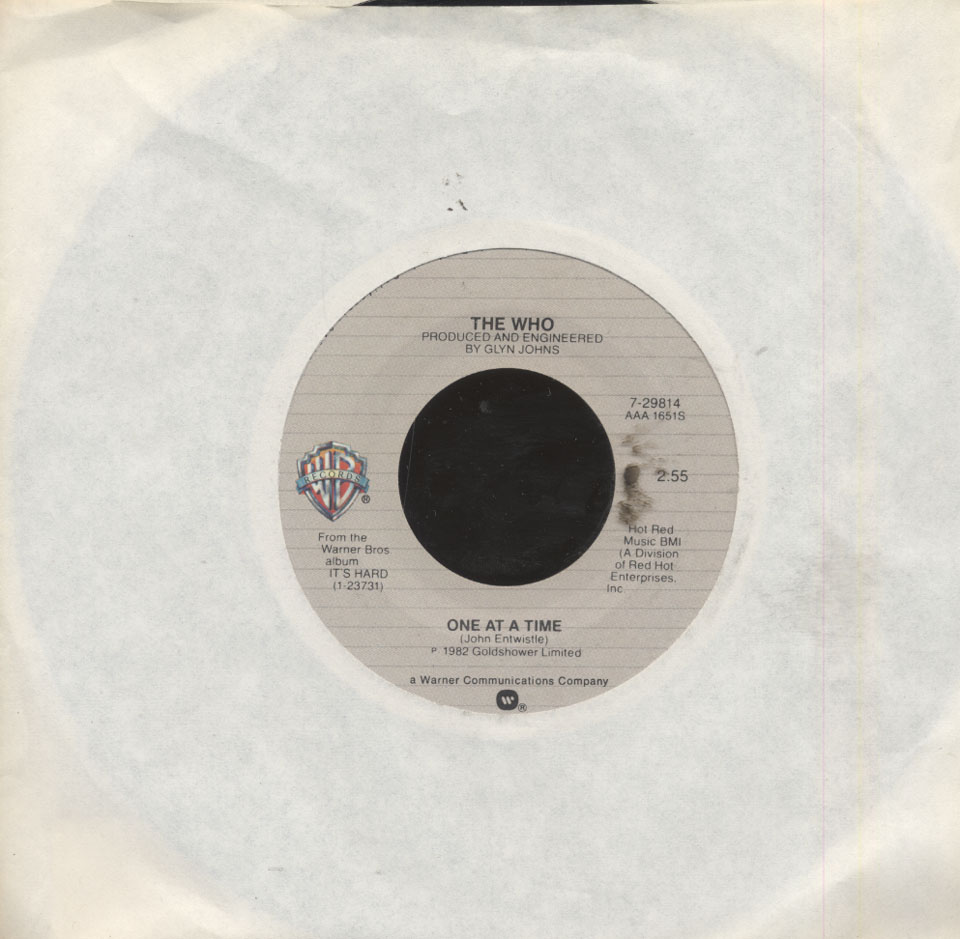 "The Who Vinyl 7"" (Used)"