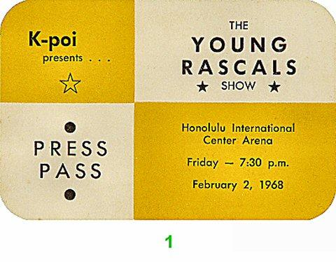 The Young Rascals Backstage Pass