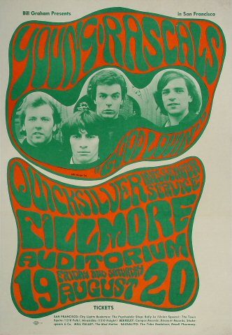 The Young Rascals Vintage Concert Poster From Fillmore