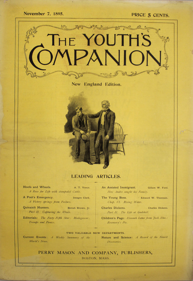 The Youth's Companion No. 3,572 No. 69th Year