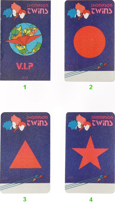 Thompson Twins Backstage Pass