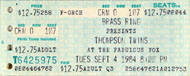 Thompson Twins Vintage Ticket